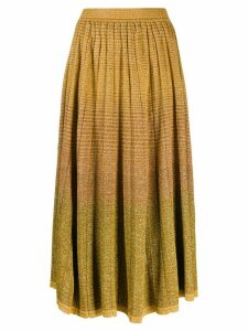 Ulla Johnson shimmery midi skirt - Yellow