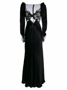 Alessandra Rich lace-front gown - Black