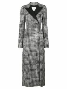 Carolina Herrera houndstooth long coat - Black
