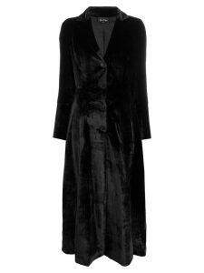 Andrea Ya'aqov velvet single breasted coat - Black