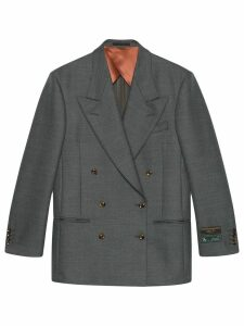 Gucci double-breasted blazer - Grey