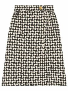 Gucci houndstooth tweed skirt - Black