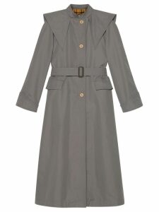 Gucci belted trench coat - Grey