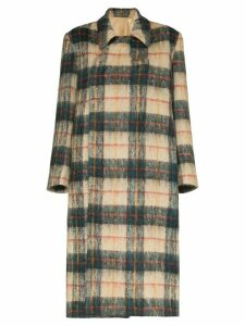 Samuel Gui Yang Leslie tartan long coat - 108 - Multicoloured