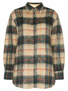 Samuel Gui Yang tartan print shirt - Multicoloured