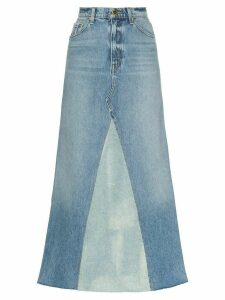 Khaite Magdalena two-tone denim skirt - Blue