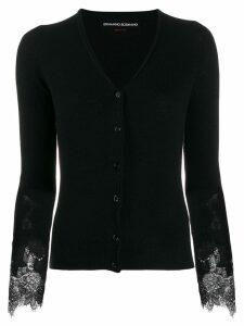 Ermanno Scervino lace sleeve cardigan - Black