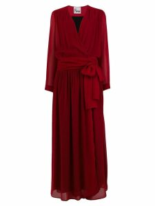 8pm loose fitted log dress - Red
