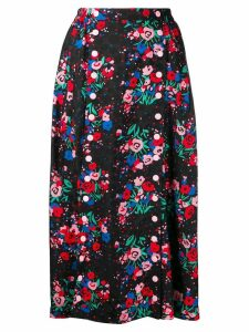 Marc Jacobs buttoned floral skirt - Black