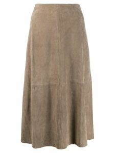 Theory panelled skirt - Neutrals