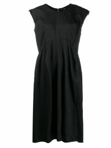 Comme Des Garçons raw sleeveless dress - Black