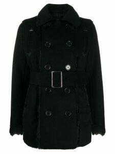 Comme Des Garçons Noir Kei Ninomiya belted duffle coat - Black