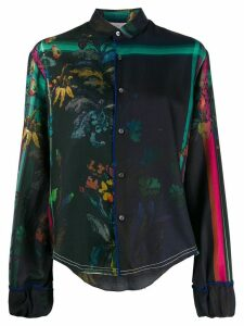Rohka all-over print shirt - Blue
