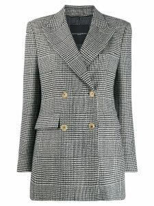 Ermanno Scervino checked double-breasted coat - Black