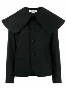 Comme Des Garçons Comme Des Garçons oversized collar coat - Black