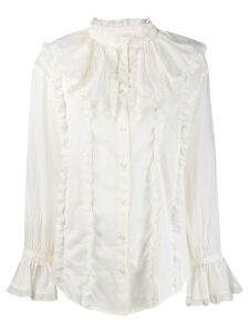 See By Chloé lace-trim ruffled shirt - White