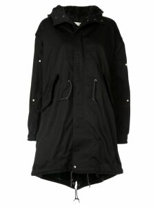 Tu es mon TRÉSOR army hooded parka - Black
