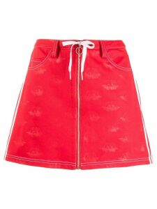 Fiorucci Fiorucci x Adidas All Over Angels skirt - Red