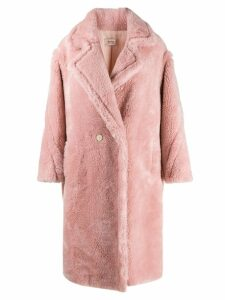 Yves Salomon Meteo textured wool coat - Pink