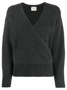 Le Kasha london cross-over jumper - Grey