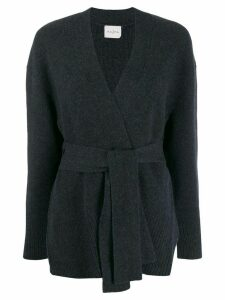 Le Kasha oxford wrap-around cardigan - Blue