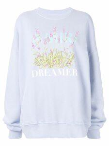 Amiri printed oversized sweatshirt - Purple