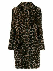 Desa 1972 leopard print coat - Neutrals