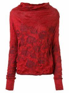 Y's cowl neck sweatshirt - Red