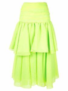 Acler Suki draped skirt - Yellow