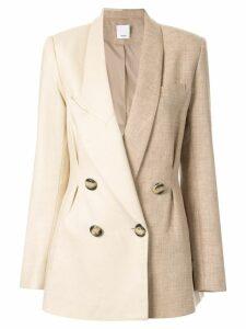 Acler Belvue asymmetric blazer - Neutrals