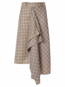 Blindness tartan check skirt - Brown