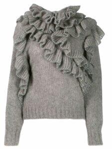 Alberta Ferretti ruffled jumper - Grey