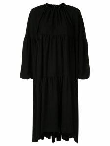 Irene tiered mantle dress - Black
