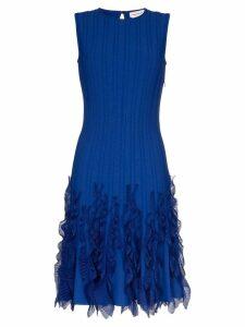 Alexander McQueen wave hem dress - Blue