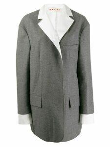 Marni layered sleeve coat - Grey
