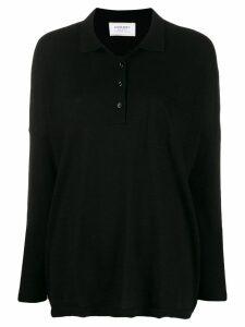 Snobby Sheep fine knit polo shirt - Black