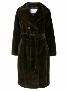 Stand belted trench coat - Brown