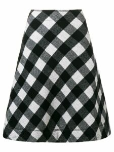 Peter Jensen a-line check skirt - Black