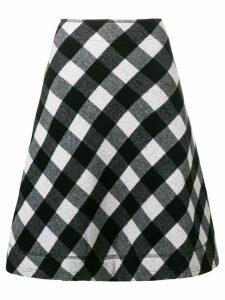Peter Jensen a-line check skirt - Black