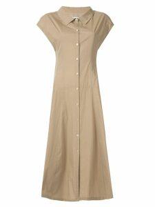Le Ciel Bleu long shirt dress - Brown