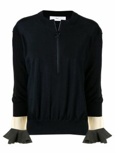 Toga Pulla zip detail sweater - Black