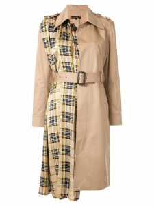 Blindness Tartan check coat - Brown