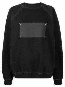 Maison Margiela faded patch oversized sweatshirt - Black