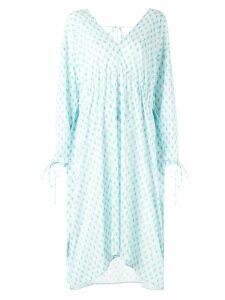 Irene floral v-neck dress - Blue