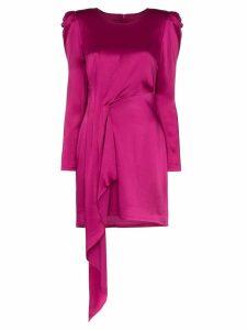 Haney satin draped mini dress - Pink