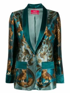 F.R.S For Restless Sleepers owl print blazer - Blue