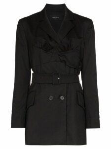 Simone Rocha ruffle front blazer - Black