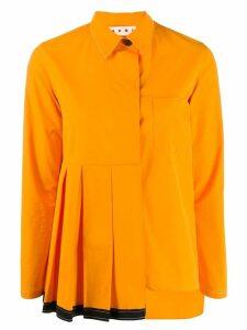 Marni deconstructed shirt - Orange