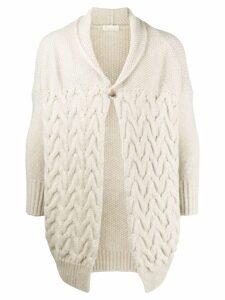 Ma'ry'ya cable knit cardigan - Neutrals