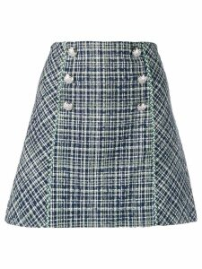 Veronica Beard high waisted straight skirt - Blue